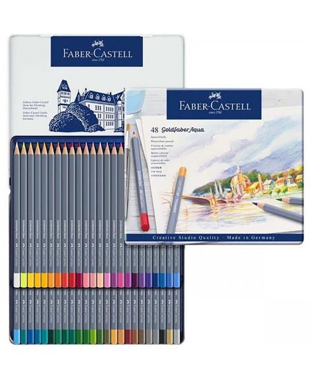 Estuche metálico Goldfaber Aqua de 48 lápices acuarelables Faber-Castell