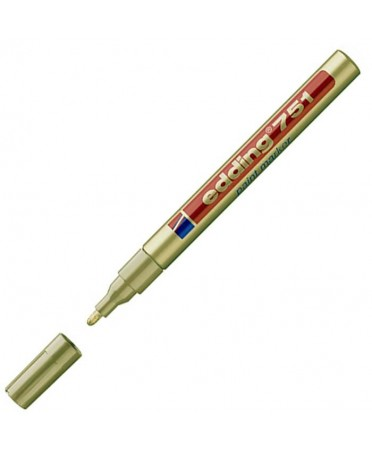 Rotulador Edding 751 efecto lacado de punta redonda 1-2 mm