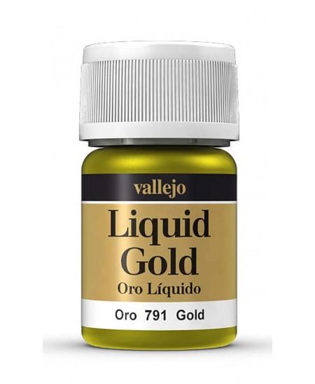 Pintura pan de oro y plata líquido base alcohol Vallejo 35 ml.
