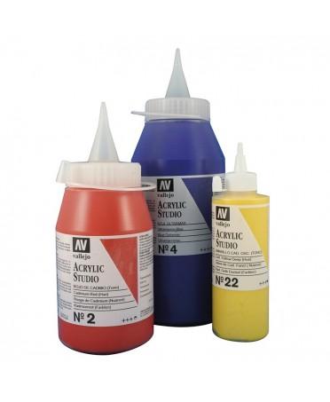 Botes de acrilicos Studio Vallejo colores sueltos