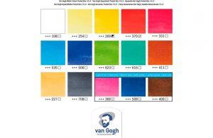 carta color 12+3 acua VAn gogh